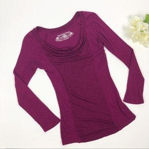 Derek Heart Purple Ribbed Long Sleeve Pullover